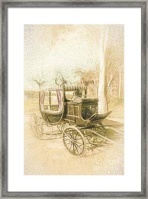 Horse Drawn Funeral Cart  Framed Print