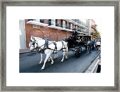 Horse Drawn Hearse Framed Print by Bourbon  Street