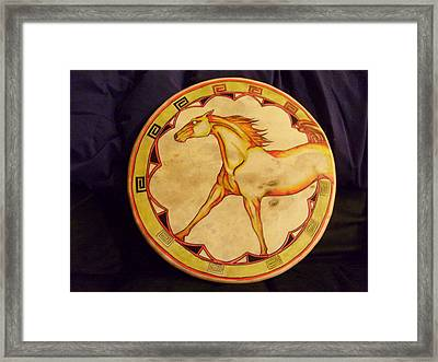 Horse Drum Framed Print by Angelina Benson