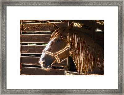 Horse Electric Framed Print