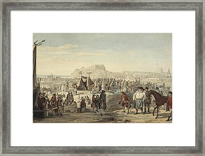 Horse Fair On Bruntsfield Links, Edinburgh Framed Print