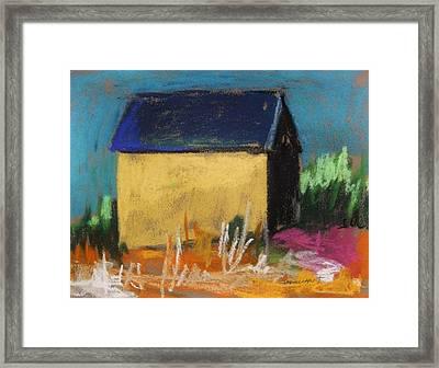 Horse Farm Barn Framed Print by John Williams