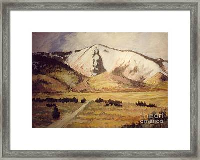 Horse Head Mountain Framed Print by JoAnne Corpany