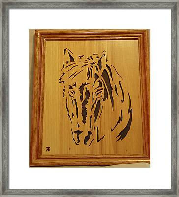 Horse Head Framed Print by Russell Ellingsworth