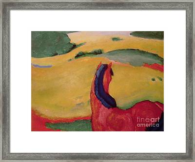 Horse In A Landscape Framed Print by Franz Marc