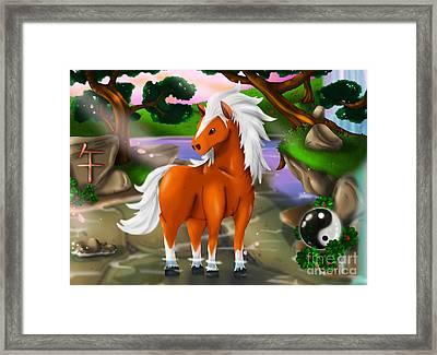 Horse In Chinese Zodiac Framed Print