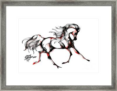 Horse In Extended Trot Framed Print by Stacey Mayer