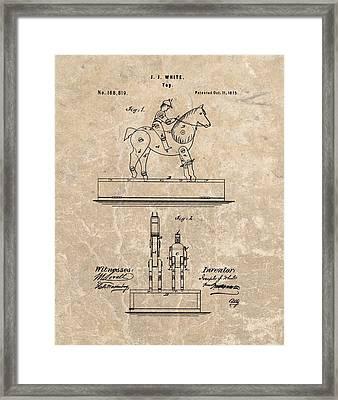 Horse Jockey Toy Patent Framed Print