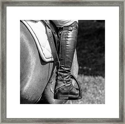Horse Jumping 2 Framed Print by Roy McPeak