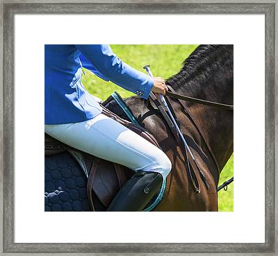 Horse Jumping 3 Framed Print by Roy McPeak