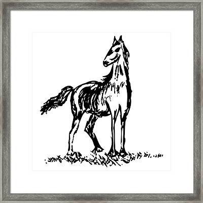 Horse Framed Print by Karl Addison