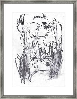 Horse Kiss Framed Print