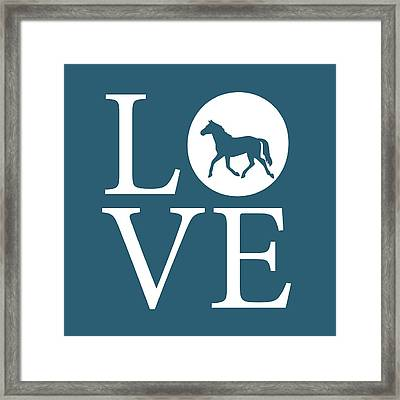 Horse Love Framed Print by Nancy Ingersoll
