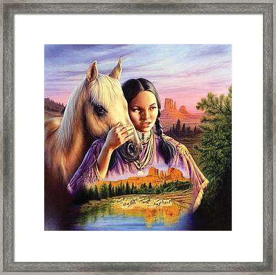 Horse Maiden Framed Print by Andrew Farley