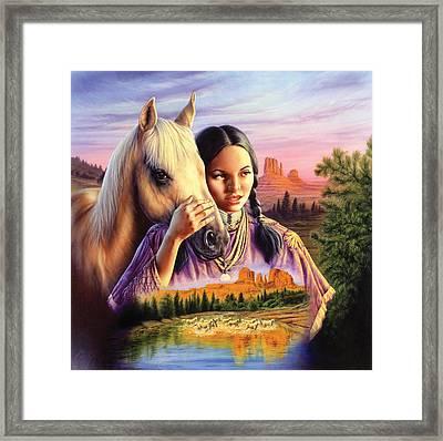 Horse Maiden Framed Print