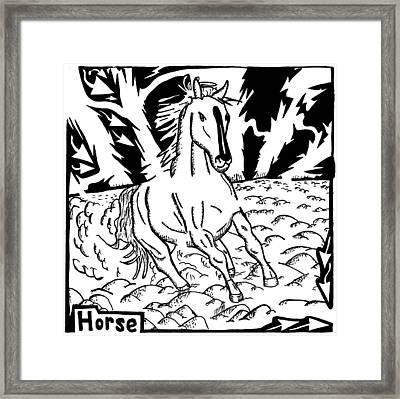 Horse Maze Framed Print by Yonatan Frimer Maze Artist