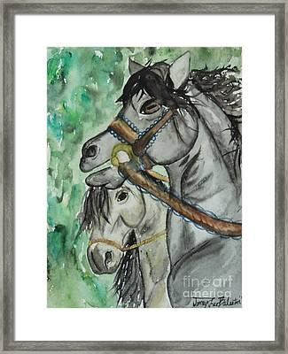 Horse Meets Carousel Pony Framed Print by Jamey Balester