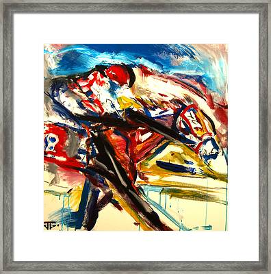 Horse Number 8 Framed Print