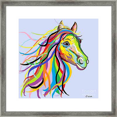 Horse Of A Different Color Framed Print by Eloise Schneider