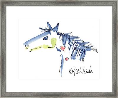 Horse Of A Different Color Framed Print