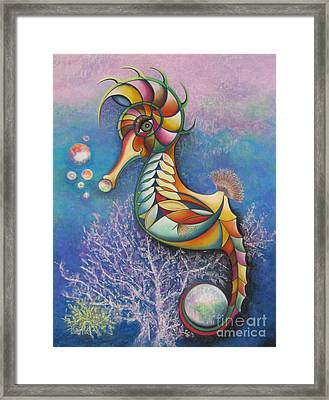 Horse Of A Different Color Framed Print by Tracey Levine