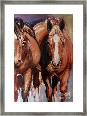 Horse Oil Painting Framed Print by Maria's Watercolor
