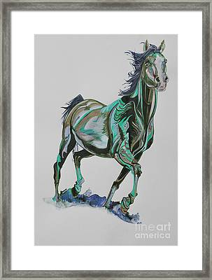 Horse Painting 567vb Framed Print by Yaani Art