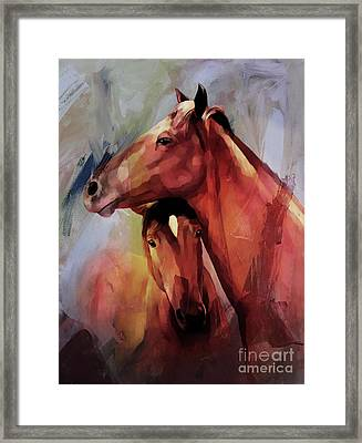 Horse Pair 003 Framed Print by Gull G