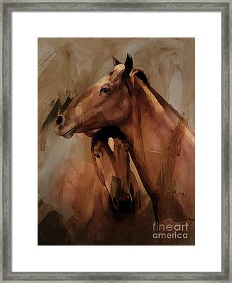 Horse Pair 005 Framed Print by Gull G