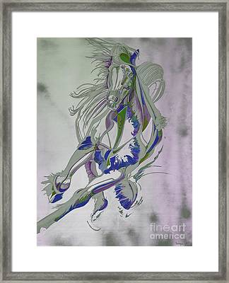 Horse Portrait 02v Framed Print by Yaani Art