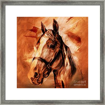 Horse Portrait 092 Framed Print by Gull G