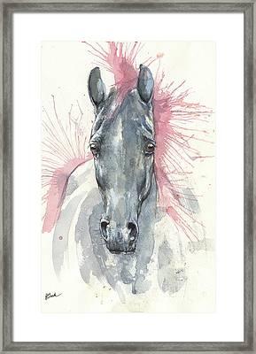 Horse Portrait 2017 07 26 Framed Print