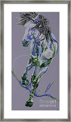 Horse Portrait 564h Framed Print by Yaani Art