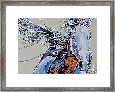 Horse Portrait 876y Framed Print by Yaani Art