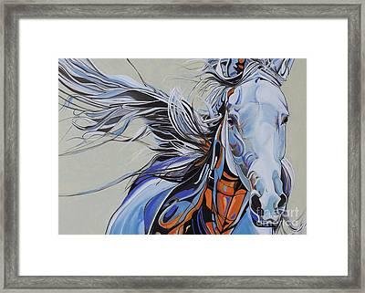Horse Portrait 876y Framed Print by Yaani Art