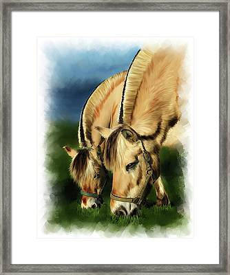Horse Portrait Framed Print by Michael Greenaway