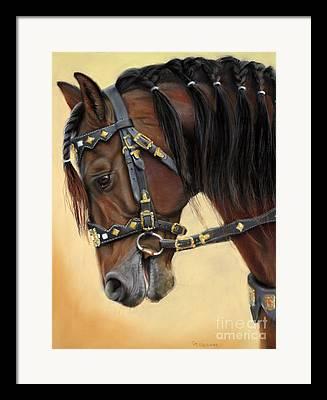 Horses Pastels Framed Prints