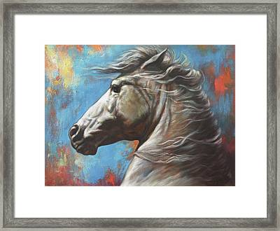 Horse Power Framed Print by Harvie Brown
