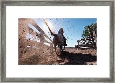 Horse Power Framed Print by Steve Gadomski