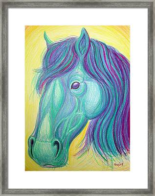 Horse Profile Framed Print by Nick Gustafson