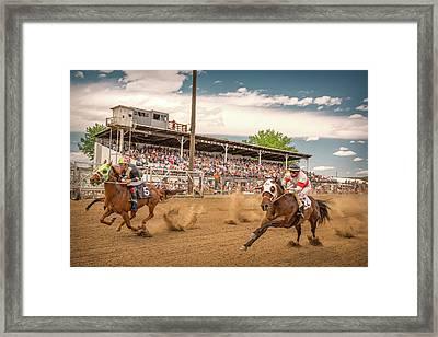 Horse Race Framed Print by Todd Klassy