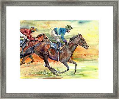 Horse Races Framed Print