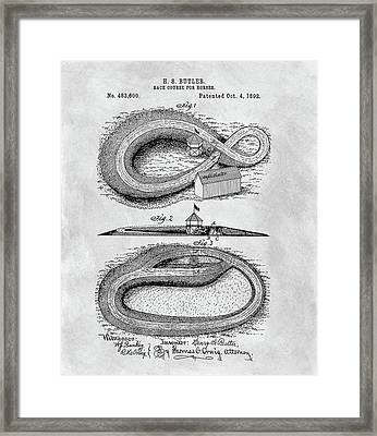 Horse Racetrack Patent Framed Print