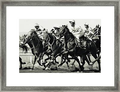 Horse Racing Framed Print