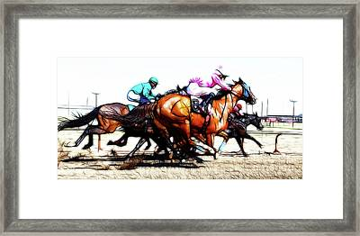 Horse Racing Dreams 4 Framed Print by Bob Christopher