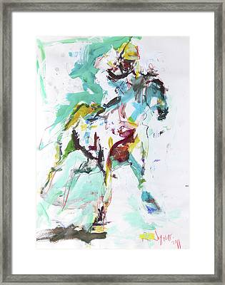 Horse Racing Painting Framed Print