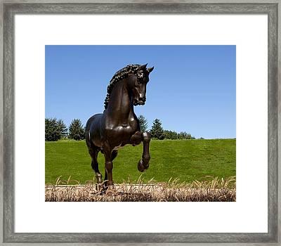 Horse Sculpture 2 Framed Print