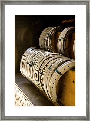 Horse Shoes Framed Print by Angela Rath