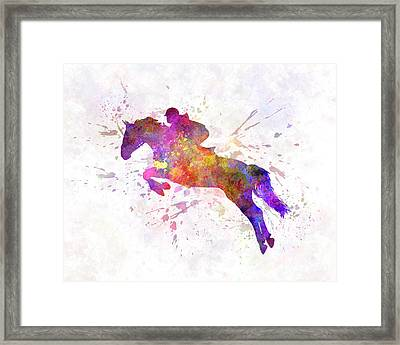 Horse Show 07 In Watercolor Framed Print