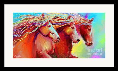 Contemporary Equine Framed Prints
